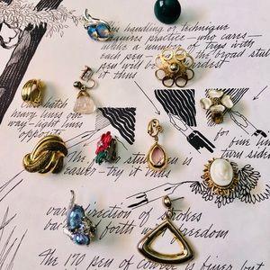 Lucky 13 Vintage Orphan Earrings Lot Bundle